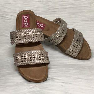 NIB Pop Capri Two-Strap Sandals, Size 9M